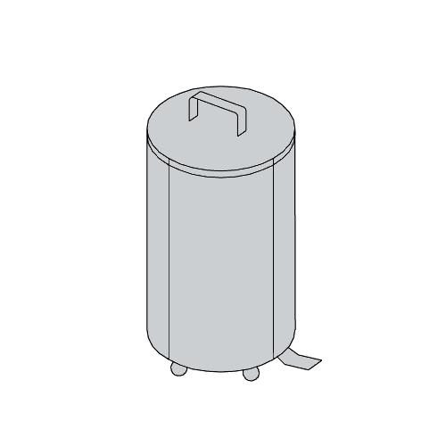Porta rifiuti con pedale per cucine professionali